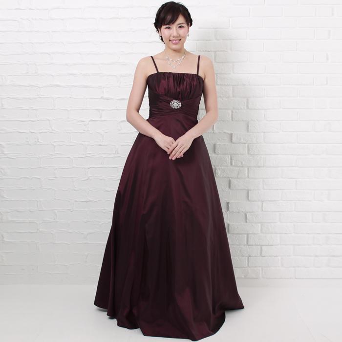 イベントに最適プラムカラーの落ち着いた印象のドレス