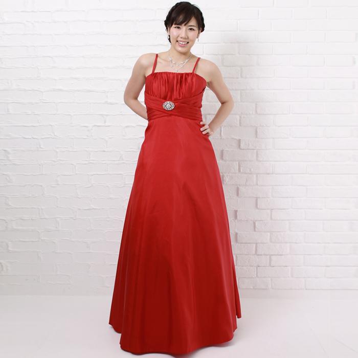 情熱カラー、アップテンポな演奏会に最適のレッドカラーのドレス