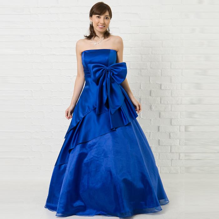夏のパーティーには海の青さに負けないほどのロイヤルブルーカラードレス