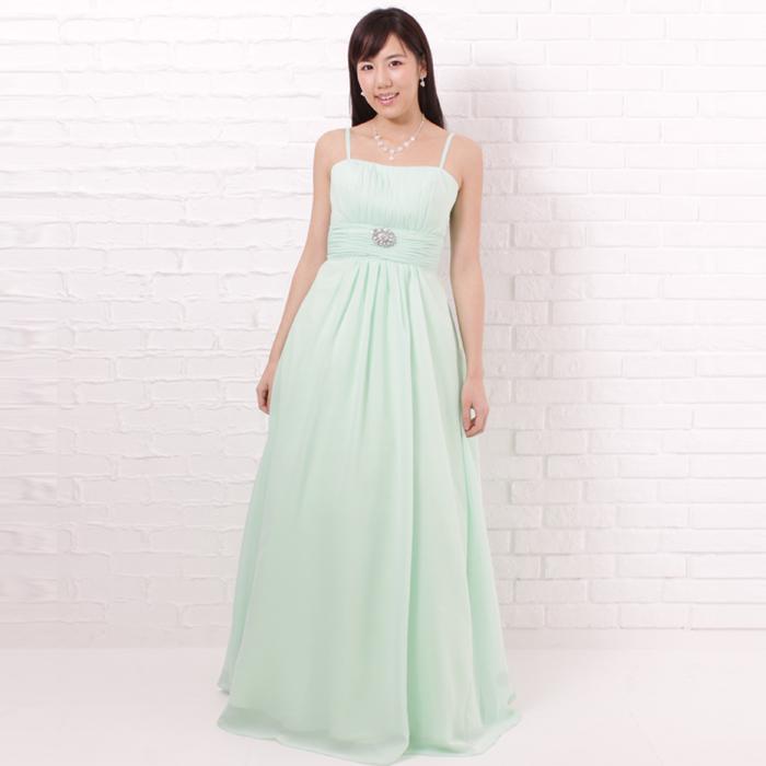 爽やかなミントカラーで春夏の爽やかな季節にはとってもマッチする清涼感のあるドレス
