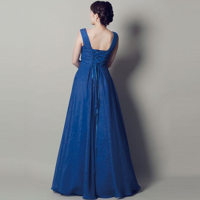 神秘的な奥ゆかしさのあるスレートブルーカラードレス|ドレスルームアミ 演奏会ドレス、発表会ドレス