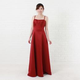 ワインカラーの大人可愛いドレスで演奏会などの華やかな舞台にピッタリ