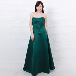 癒しの色、濃いめのグリーンカラードレス寒い季節にはバッチリの癒し色