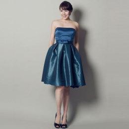 キャサリン妃のようなインテリジェンスのあるブルーカラードレス